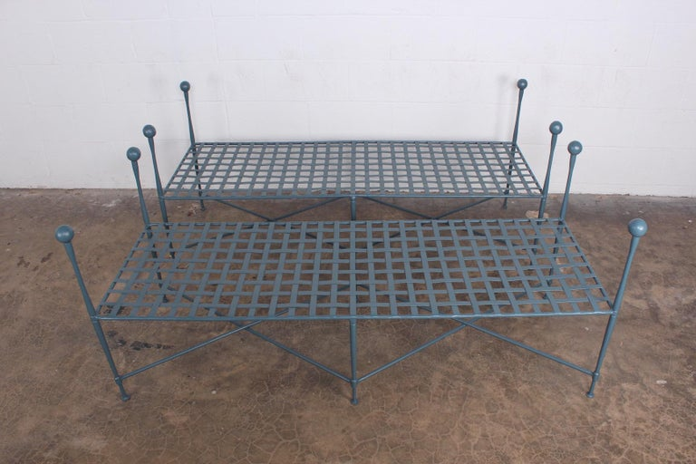 Pair of Salterini Benches In Good Condition For Sale In Dallas, TX