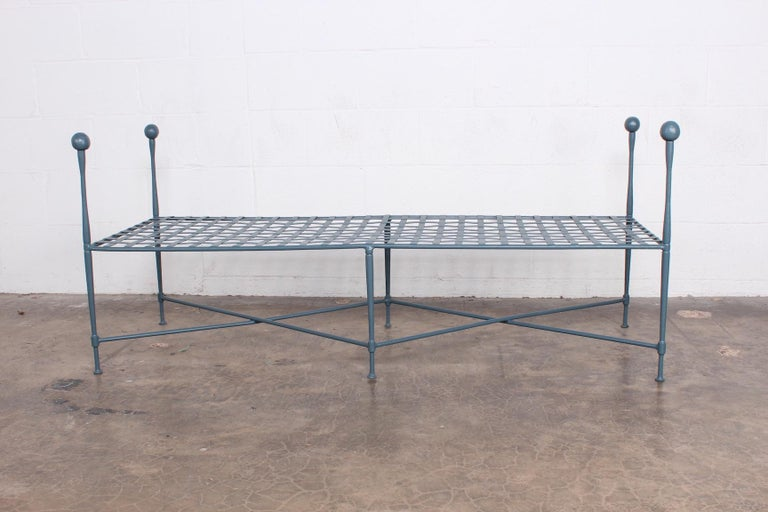 Metal Pair of Salterini Benches For Sale