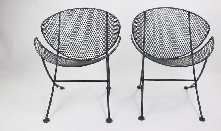 American Pair of Salterini Clamshell Lounge Chairs For Sale