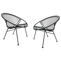 Pair of Salterini 'Radar' Collection Lounge Chairs by Tempestini