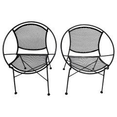 Pair of Salterini Radar Lounge Chairs