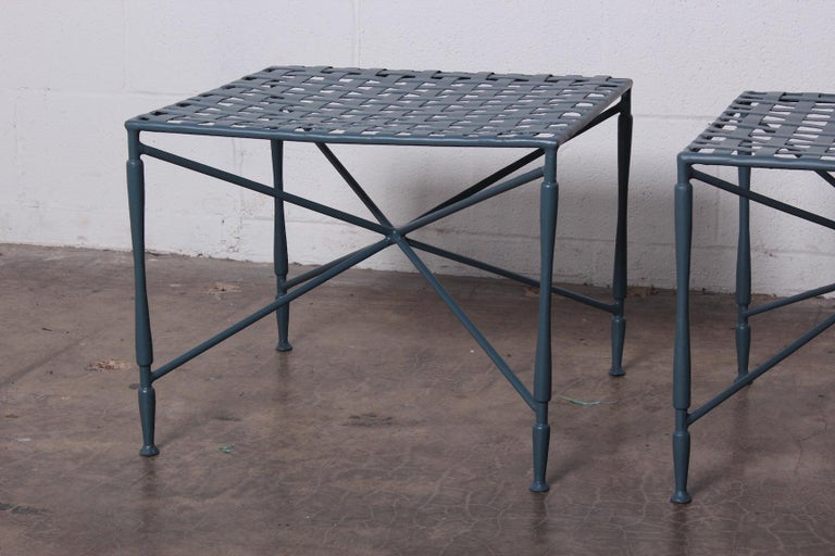 Metal Pair of Salterini tables For Sale