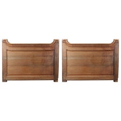 Pair of Salvaged Shaped Oak Panels, 20th Century