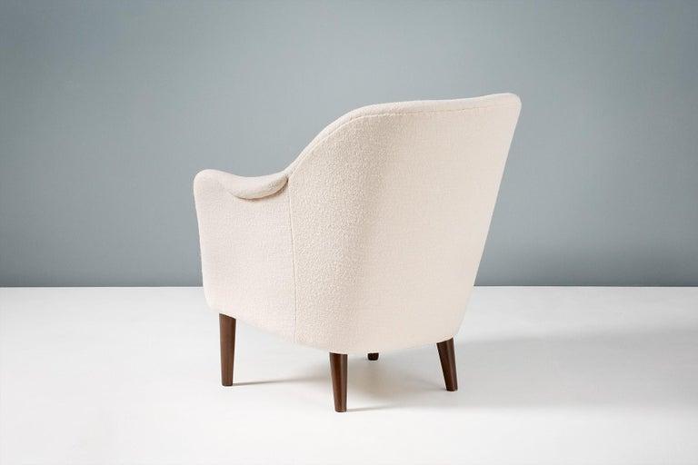 Scandinavian Modern Pair of Sampsel Armchairs by Carl Malmsten, 1956 For Sale