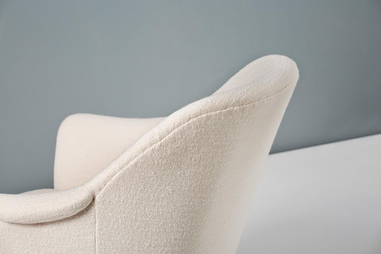 Wool Pair of Sampsel Armchairs by Carl Malmsten, 1956 For Sale