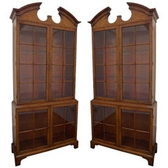 Pair of Samuel Marx Vitrines in Carpathian Elm