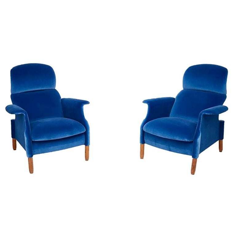 Pair of Sanluca Armchairs by Achille & Pier Giacomo Castiglioni for Gavina Spa For Sale