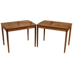 Pair of Santos Rosewood Tables by Yngve Sandstrom for Seffle Mobelfabrik