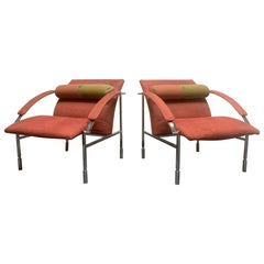 Pair of Saporiti Lounge Chairs