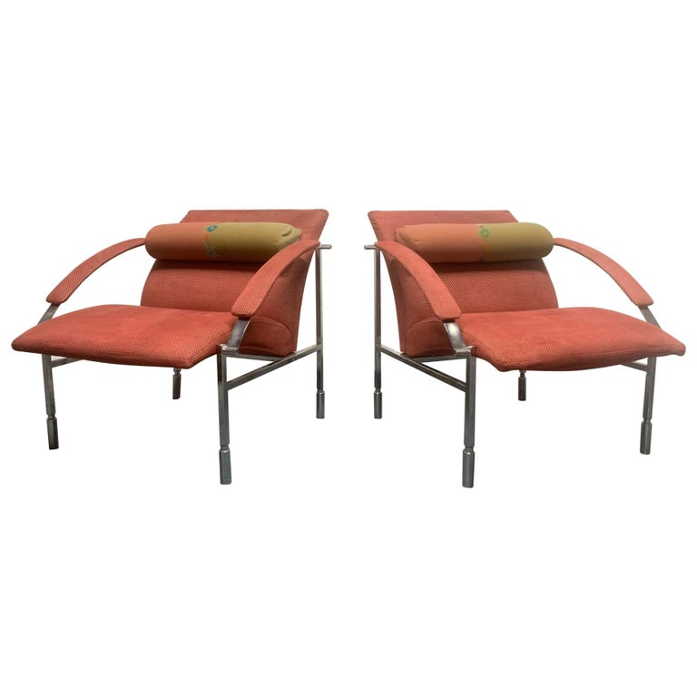 Pair of Saporiti Lounge Chairs For Sale