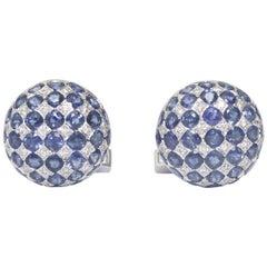 Pair of Sapphire and Diamond Cufflinks, circa 1950