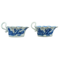 Pair of Sauce Boats, Bow Porcelain Factory, circa 1753