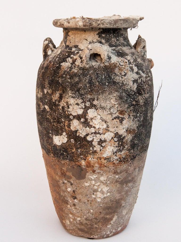 Pair of Sawankhalok Jars with Encrustations, Sawankhalok, Thailand, 15th Century For Sale 6