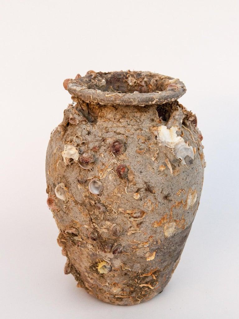 Hand-Crafted Pair of Sawankhalok Jars with Encrustations, Sawankhalok, Thailand, 15th Century For Sale