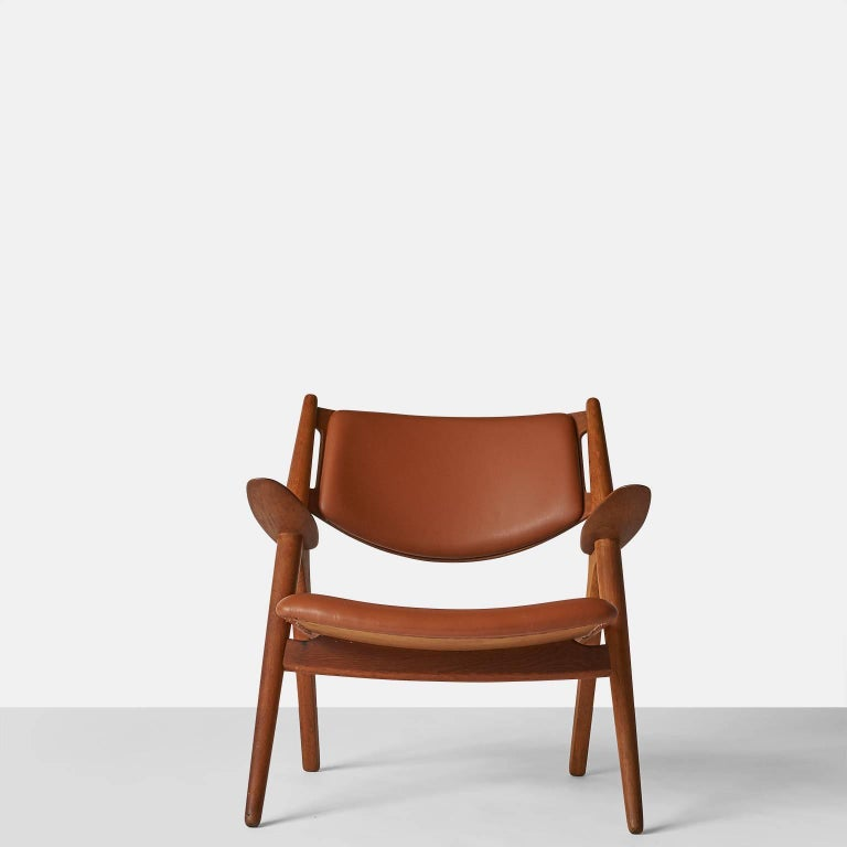 Danish Pair of Sawbuck Chairs, Model CH-28 by Hans Wegner For Sale
