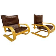 "Pair of ""Scacciapensieri"" Chairs by De Pas, D'Urbino and Lomazzi for Poltronova"