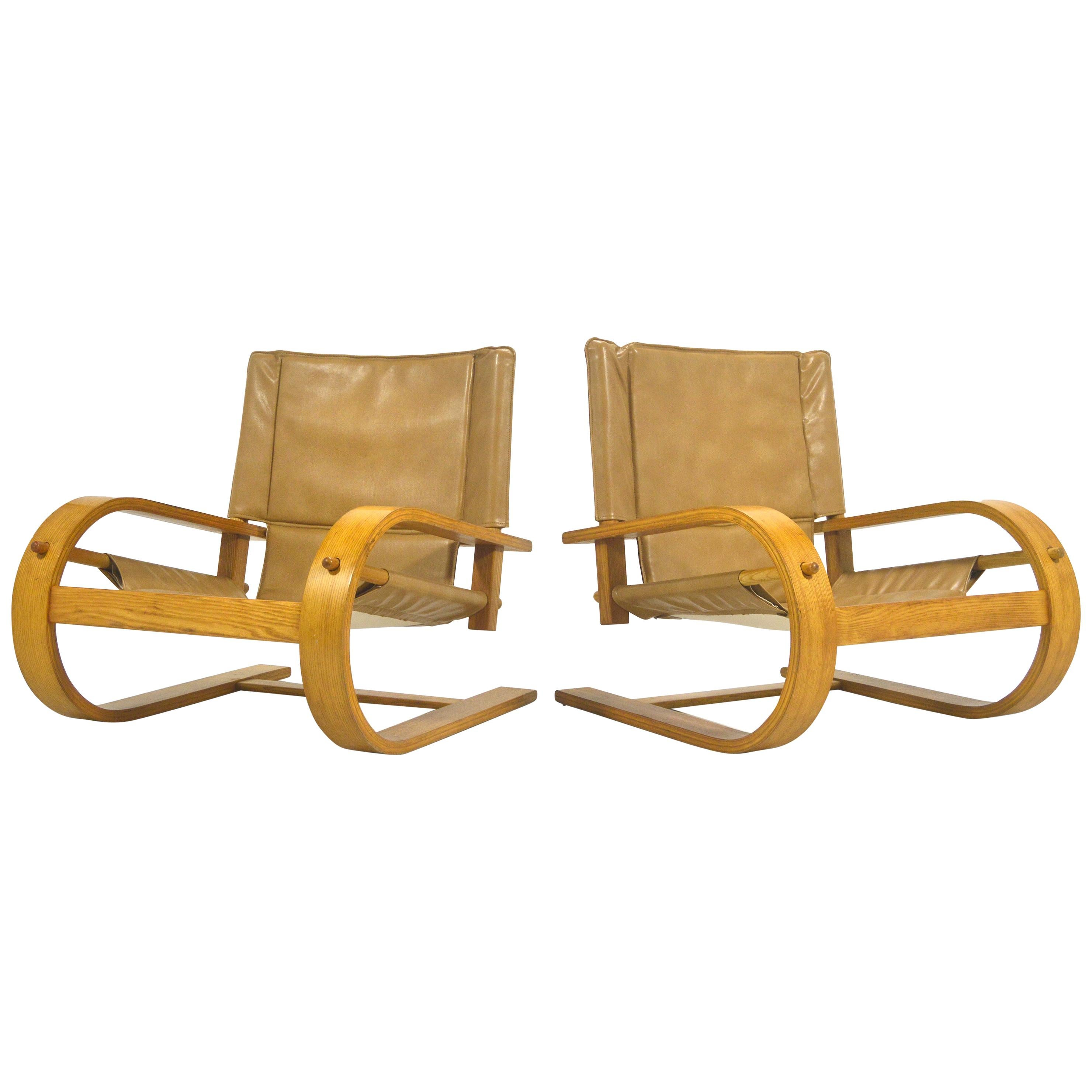"Pair of ""Scacciapensieri"" Chairs by De Pas, D'Urbino and Lomazzi for Poltronova"