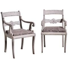 Pair of Scandinavian Armchairs, circa 1840