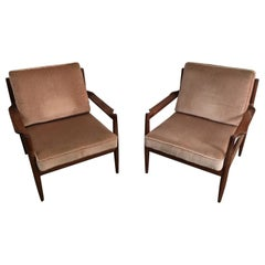 Pair of Scandinavian Armchairs, Marked, circa 1970
