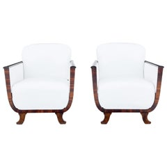 Pair of Scandinavian Art Deco Lounge Armchairs