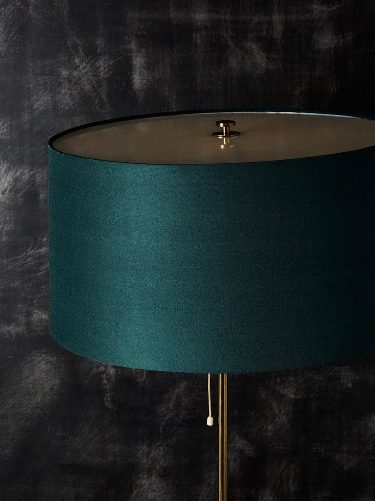 Scandinavian Modern Pair of Scandinavian Brass Floor Lamps by Bergbom, 1960s For Sale