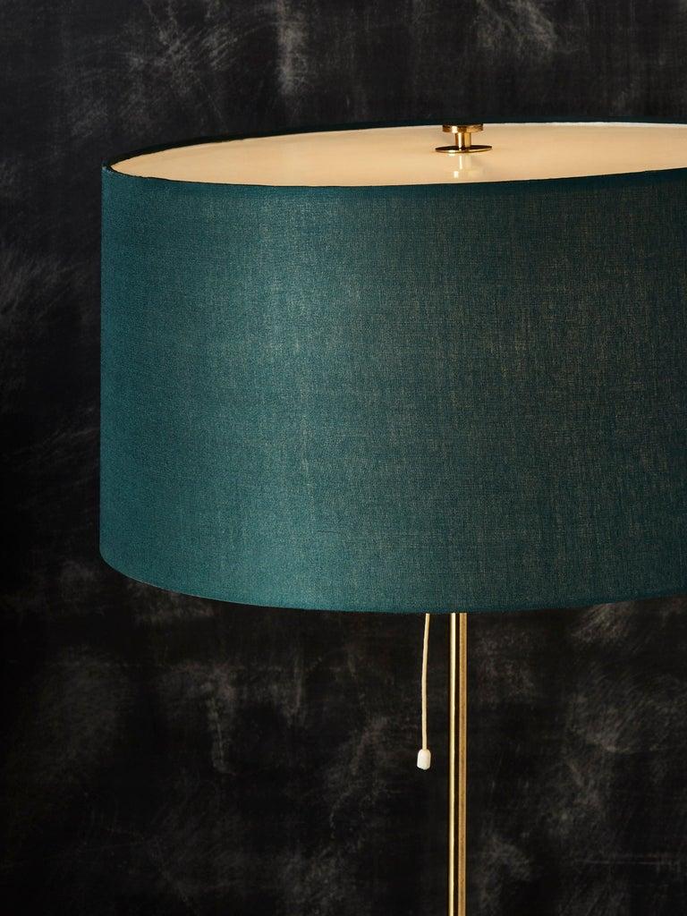 Swedish Pair of Scandinavian Brass Floor Lamps by Bergbom, 1960s For Sale