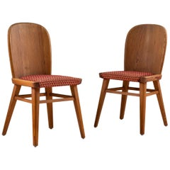 Pair of Scandinavian Chairs in Pine
