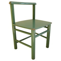 Pair of Scandinavian Childs Chairs in Green from the 1960s