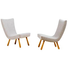 Pair of Scandinavian Lounge Chairs, 1950s