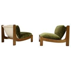 Pair of Scandinavian Lounge Chairs, 1968