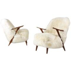 Pair of Scandinavian Lounge Chairs by Svante Skogh for Seffle Möbler, Sweden