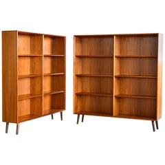 Pair of Scandinavian Midcentury Teak Bookcases by Bertil Fridhagen for Bodafors