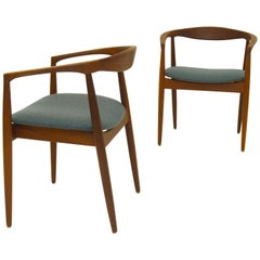 Pair of Scandinavian Modern Armchairs Troja Danish Design by Kai Kristiansen