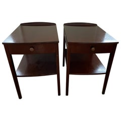 Pair of Scandinavian Modern End Tables / Night Tables