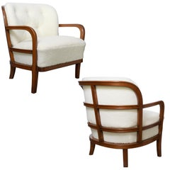 Pair of Scandinavian Modern Lounge Chairs by Carl-Johan Boman, Boman OY, Finland