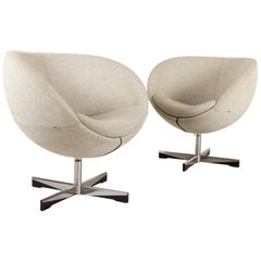 Pair of Scandinavian Modern Lounge Chairs by Sven Ivar Dysthe, 21st Century