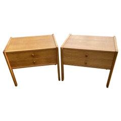 Pair of Scandinavian Modern Oak Bedside Tables