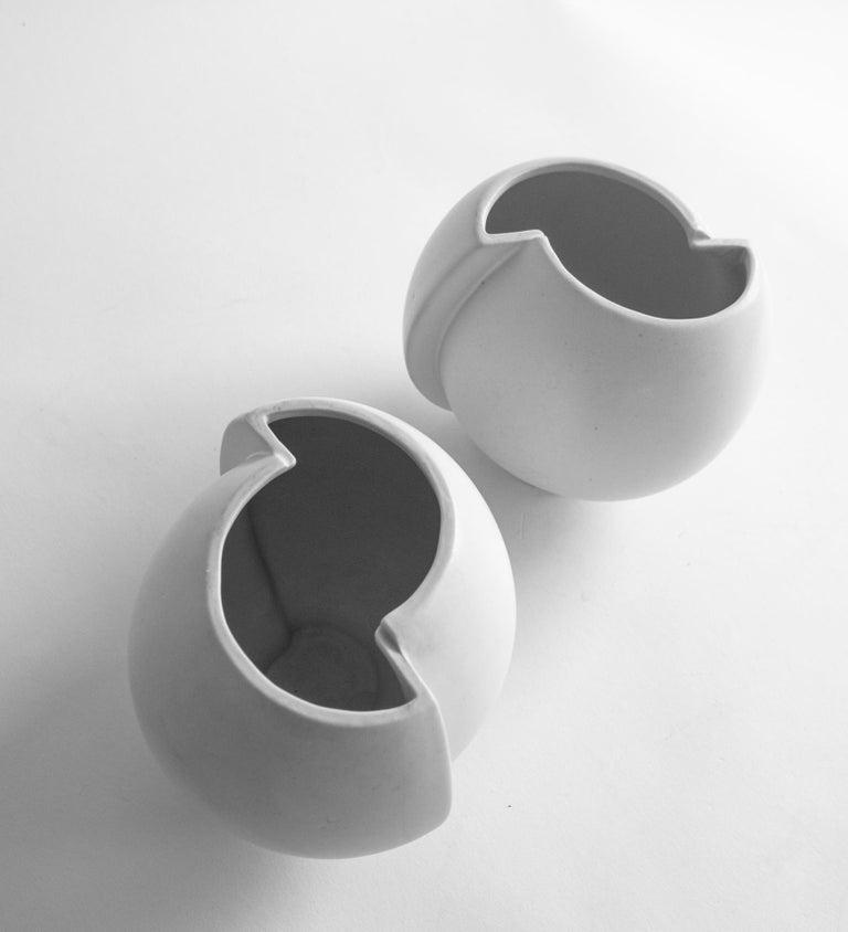 Swedish Pair of Scandinavian Modern Stoneware Vase Model Surrea Designed by Wilhelm Kåge For Sale