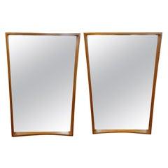 Pair of Scandinavian Modern Teak Mirrors by Pedersen & Hansen, Denmark