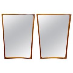 Pair of Scandinavian Modern Teak Mirrors by Pedersen & Hansen, Denmark