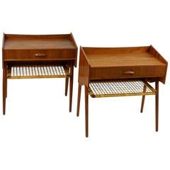 Pair of Scandinavian Modern Teak Nightstands in the Style of Kurt Ostervig