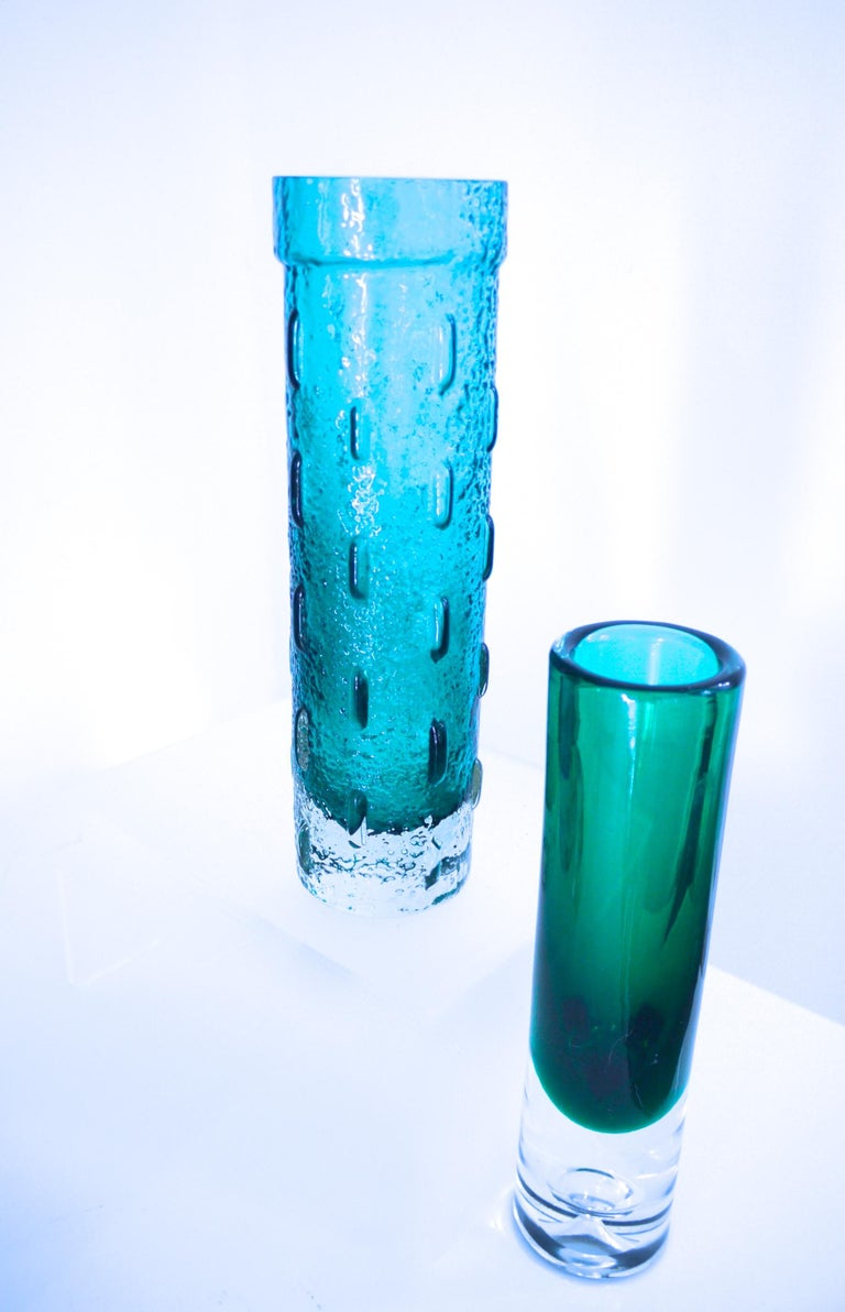 Finnish Pair of Scandinavian Modern Vases by Riihimaki, Finland, Late 1950s For Sale