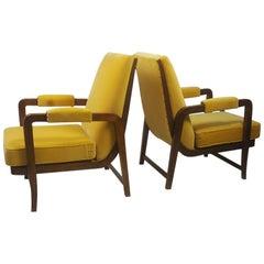 Pair of Scandinavian Modernist Lounge Chairs, 1940s