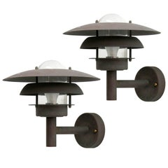 Pair of Scandinavian Outdoor Wall Lights by Horn