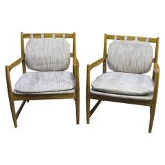 Pair of Scandinavian Style Armchairs 1970s, Czechoslovakia