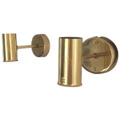 Pair of Scandinavian Styled Brass Lamps