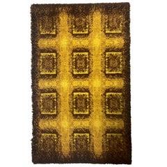Pair of Scandinavian Wool Ege Rya Danish Small Carpets / Rugs, 1960s