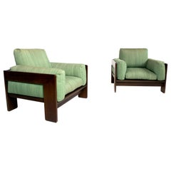 Pair of Scarpa Bastiano Lounge Chairs, Italy, 1970s