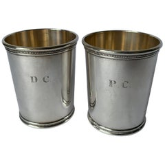 Pair Mark J. Scearce LBJ Sterling Silver Julep Cups