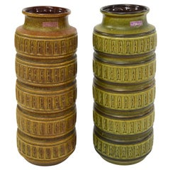 Pair of Scheurich West-Germany Ceramic Vases, 1970s